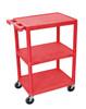 34 Inch Red 3 Shelf Cart