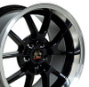 "18"" Fits Ford - Mustang FR500 Wheel - Black 18x10"