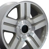 "22"" Fits Chevrolet - Texas Wheel - Machined Silver 22x9"
