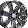 "22"" Fits Chevrolet - Silverado Wheel - Gunmetal with Chrome Inserts 22x9"