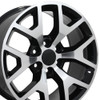 "22"" Fits Chevrolet - Sierra 1500 Wheel - Black Machined Face 22x9"