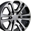 "22"" Fits GMC - Sierra Wheel - Black Machined Face 22x9"