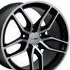 "18"" Fits Chevrolet - Corvette Stingray Wheel - Matte Black with a Machined Face 18x10.5"