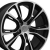 """20"""" Fits Jeep - Grand Cherokee SRT8 Wheel - Matte Black Mach'd Face 20x8.5"""