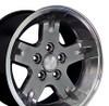"15"" Fits Jeep - Wrangler Wheel - Hyper Black 15x8"