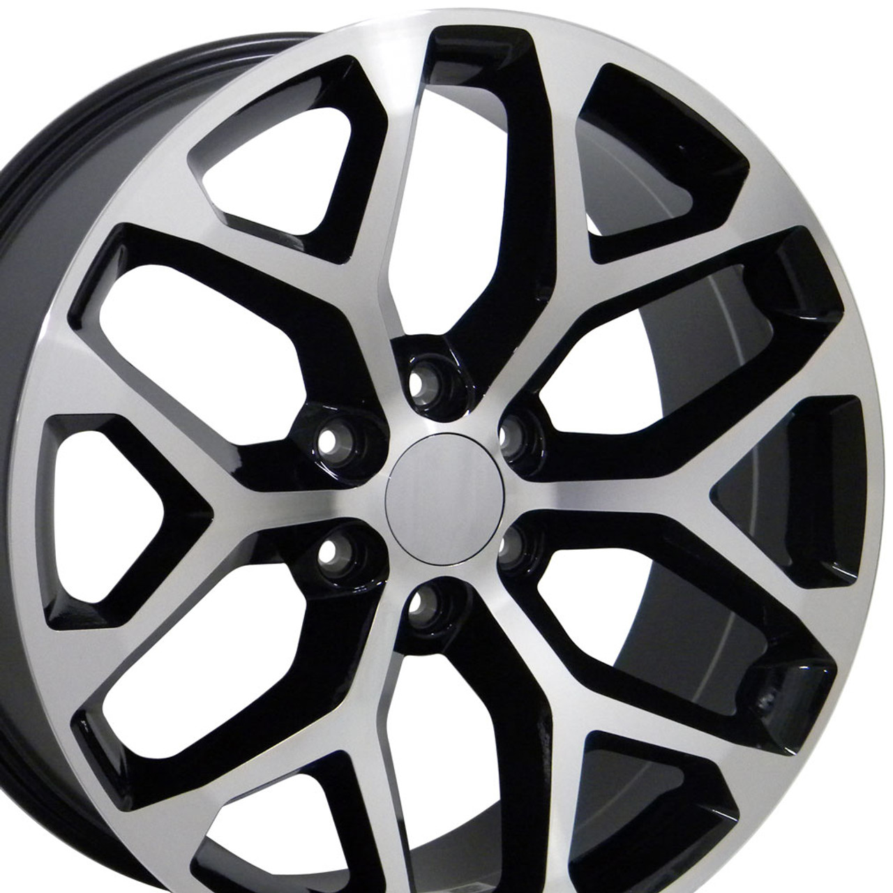 replica face a bolt wheel with rims machined fits set of sierra wheels black gmc accessories pattern chevrolet