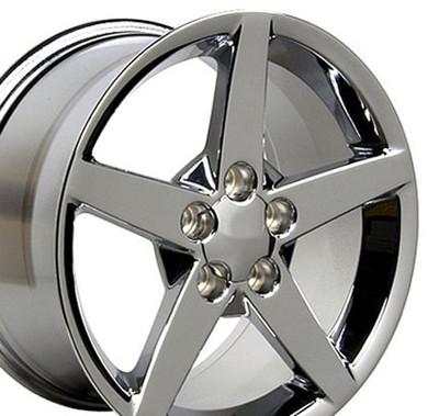 """17"""" Fits Chevrolet - Corvette C6 Wheel - Chrome 17x8.5"""