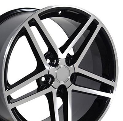 "17"" Fits Camaro Corvette C6 Z06 Wheel Black 17x9.5 OE-5910238"