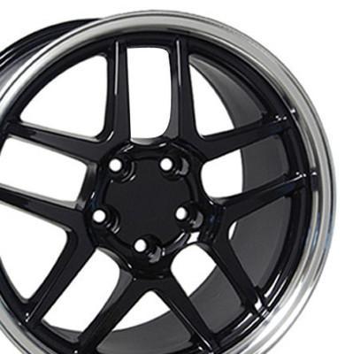 "17"" Fits Chevrolet - Corvette C5 Z06 Wheel - Black 17x9.5"