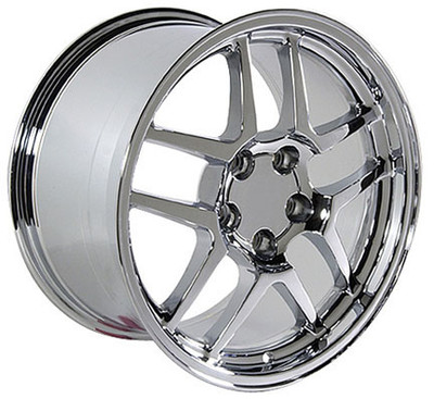 "17"" Fits Chevrolet - Corvette C5 Z06 Wheel - Chrome 17x9.5"