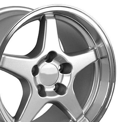 "17"" Fits Chevrolet - Corvette ZR1 Wheel - Silver 17x11"