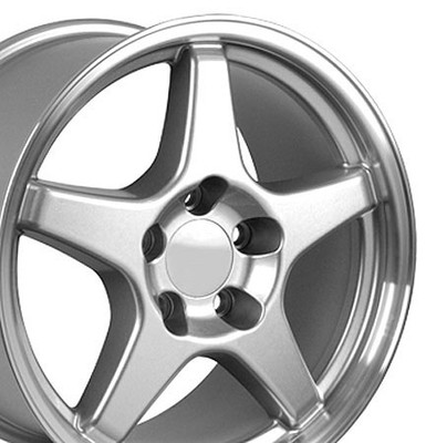 "17"" Fits Chevrolet - Corvette ZR1 Wheel - Silver 17x9.5"