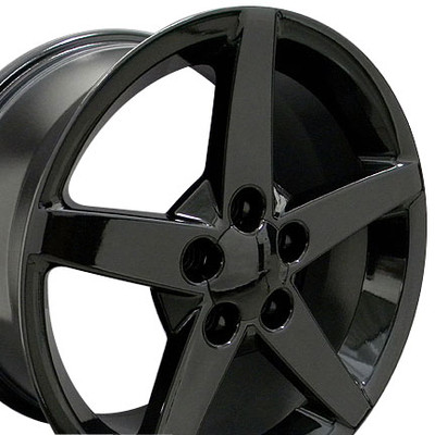 "17"" Fits Chevrolet - Corvette C6 Wheel - Black 17x8.5"