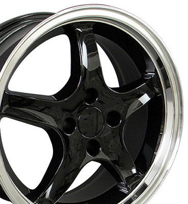 "17"" Fits Ford - Mustang 4-Lug Cobra R Wheel - Black 17x8"