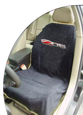 Corvette Black Z06 Car Seat Cover Towel Armour