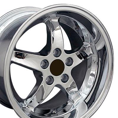 "17"" Fits Ford - Mustang Cobra R Wheel - Chrome 17x10.5"