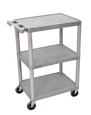 34 Inch Gray Plastic Cart