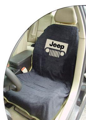 Jeep Black Grille Car Seat Cover Towel