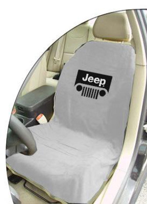 Jeep Grey Grille Car Seat Cover Towel