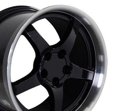 "18"" Fits Chevrolet - Corvette C5 Wheel - Black 18x10.5"