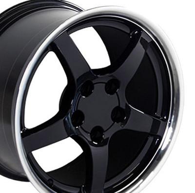 "18"" Fits Camaro Corvette C5 Deep Dish Wheel Black 18x9.5"