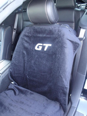 Mustang GT Black/Gray/Tan Car Seat Cover Towel