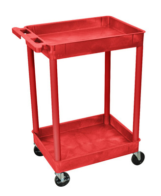 Red 2 Shelf Tub Cart Item RDSTC11RD