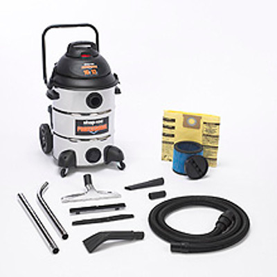 Shop-Vac 16 Gallon 12 Amps Stainless Commercial Vacuum Model 9541610
