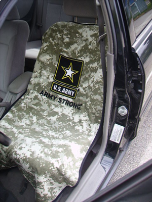 US Army Camo Car Seat Cover Towel Armour