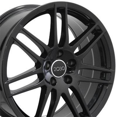 "18"" Fits Audi - RS4 Wheel - Black 18x8"
