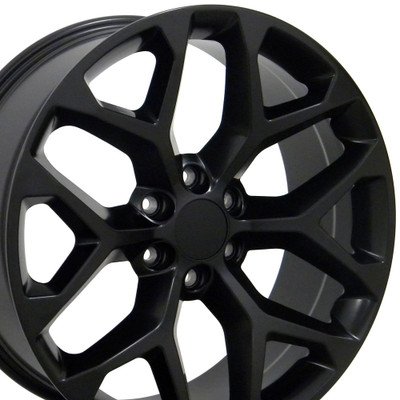"22"" Fits GMC - Sierra Wheel - Matte Black 22x9"