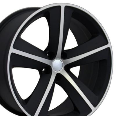"20"" Fits Dodge - Challenger SRT Wheel - Machined Matte Black 20x9"