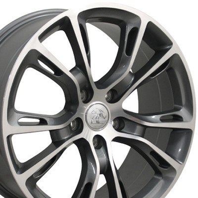 "20"" Fits Jeep - Grand Cherokee SRT8 Wheel - Gunmetal Mach'd Face 20x8.5"