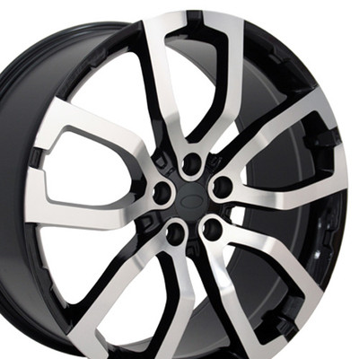 "22"" Fits Land or Range Rover - Wheel - Machined Black 22x10"
