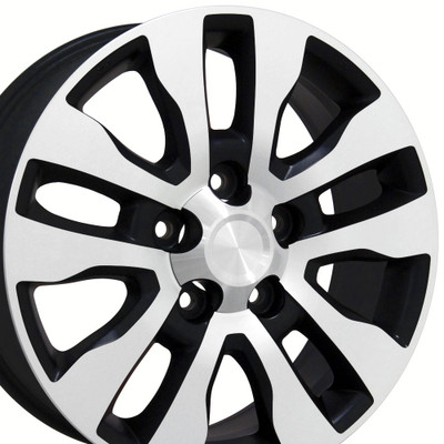 "20"" Fits Toyota - Tundra Wheel - Matte Black Mach'd Face 20x8"