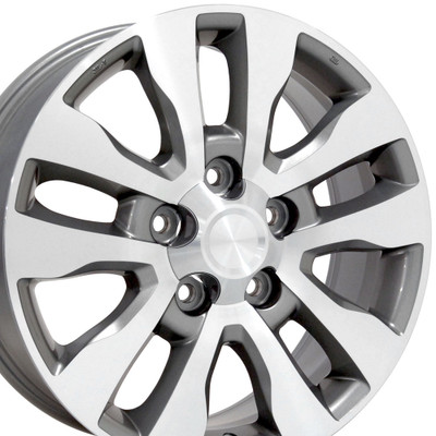 "20"" Fits Toyota - Tundra Wheel - Silver Mach'd Face 20x8"