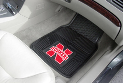 "Nebraska Heavy Duty 2-Piece Vinyl Car Mats 17""x27"""