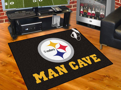 Floor Mats Fanmats Nfl Pittsburgh Steelers Man Cave All Star Mat 34 X45