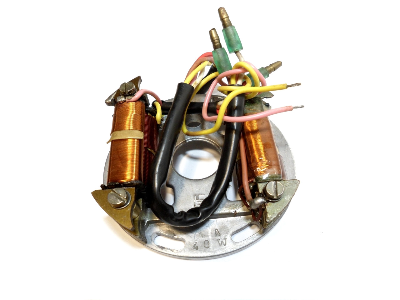 NOS 12 Volt 40 Watt CDI Flywheel Stator Plate, 5 Wire -  Avanti Mopeds