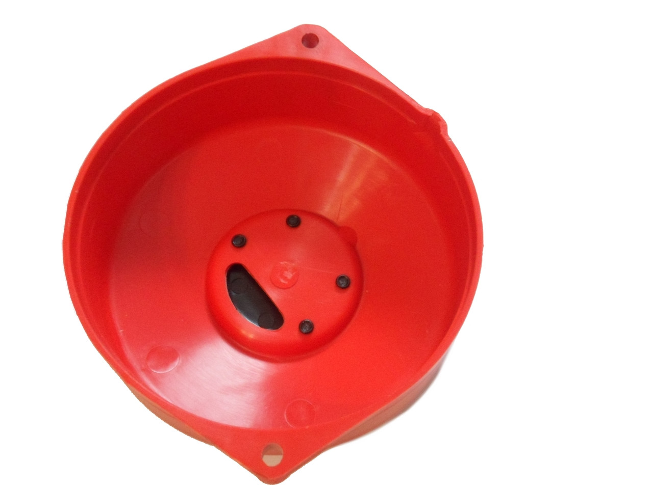 NOS Puch Moped Flywheel Cover - Red w/ Black Emblem