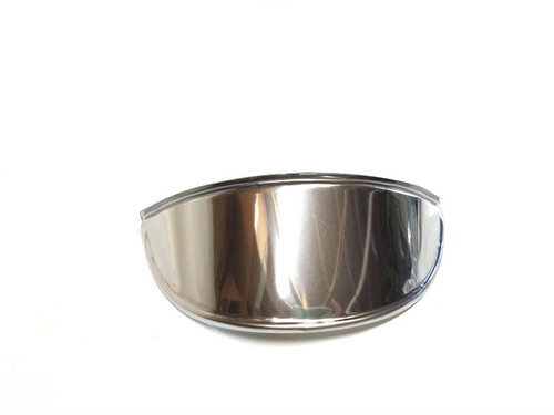 Round Chrome Moped Headlight Visor