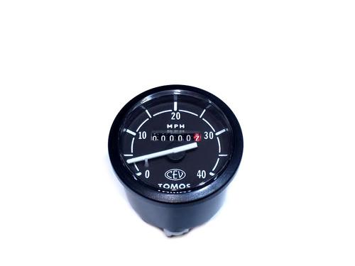 NOS CEV Tomos 40mph  Speedometer - Black