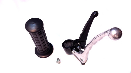 Black Waffle Grip Brake / Clutch Assembly with Metal Lever