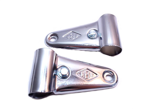EBR Chrome Universal Moped Headlight Bracket set