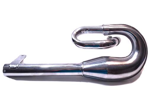 NOS SIM Performance Circuit Silencer Exhaust Pipe for Vespa Piaggio Boxer - Chrome