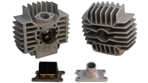 Puch 74cc Gilardoni Cylinder Kit W/ Head + Reed Block & Intake