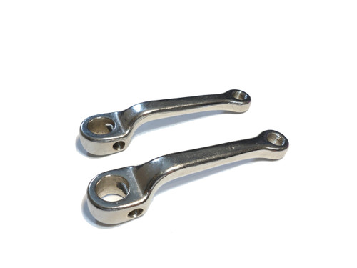 NOS 20mm Chrome Pedal Arm Set - Older Kinetic mopeds