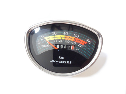 NOS Avanti Moped Speedometer KMH & MPH - Made by Galaxy