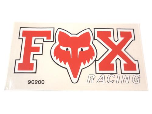 Fox Racing Logo Decal - Red & White