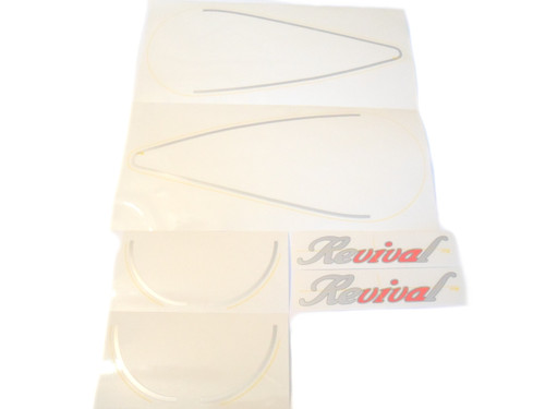 NOS Tomos A35 / A55 Revival Moped Decal Set - Silver